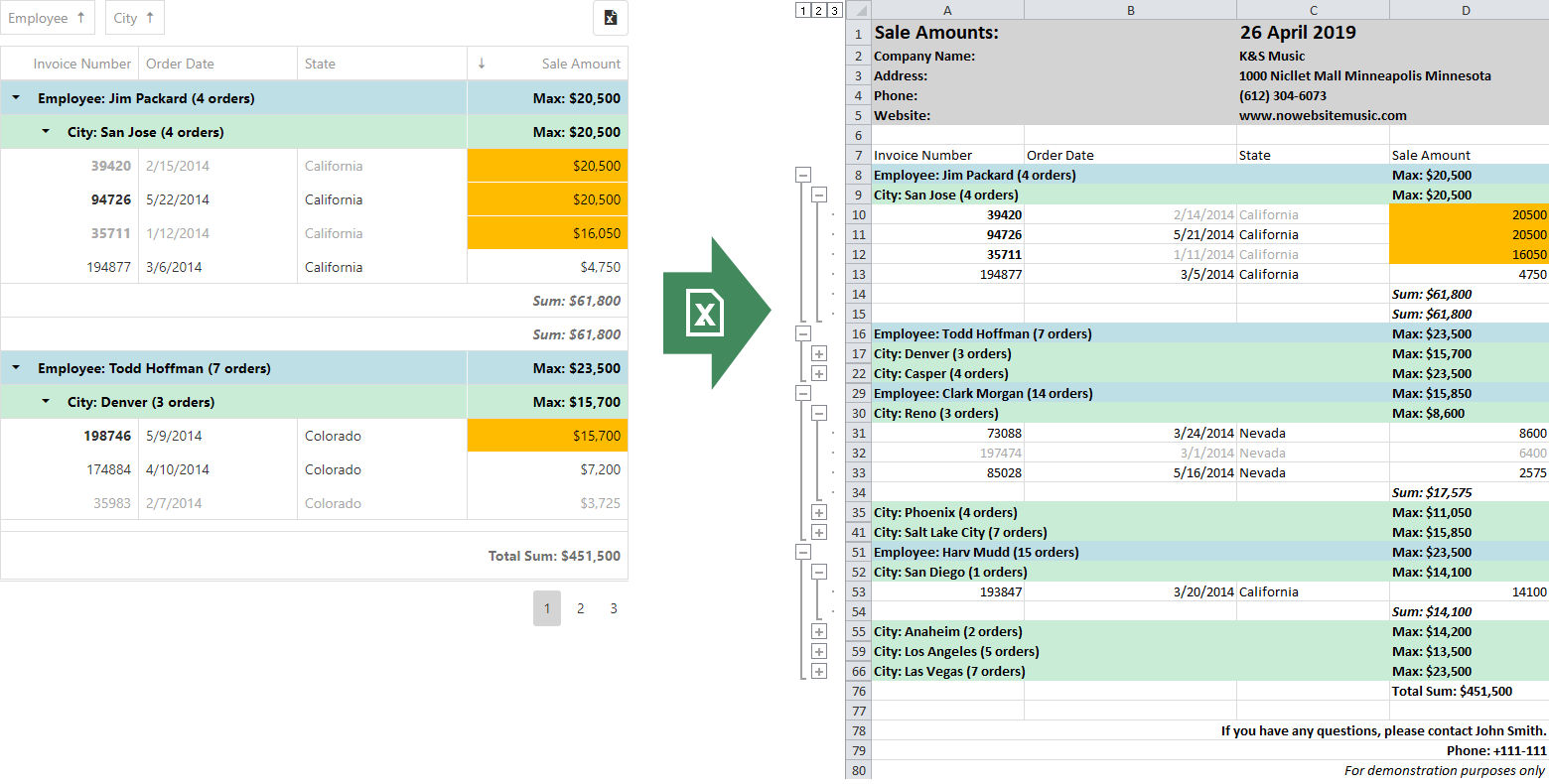 DevExtreme DataGrid - New Export To Excel API | DevExpress