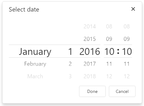 DevExtreme DateBox PickerType DatePicker
