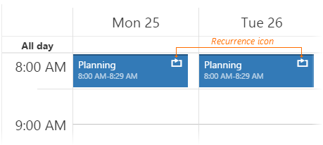 Scheduler Recurring Appointment