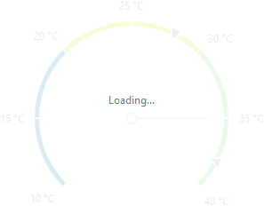 DevExtreme Gauges - Loading indicator