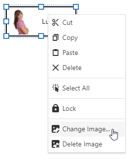Diagram - Card's context menu